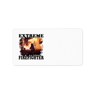 Extreme Firefighter Label