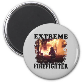 Extreme Firefighter 2 Inch Round Magnet