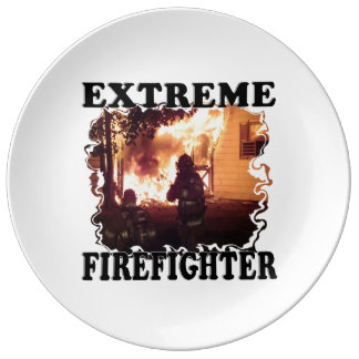 Extreme Firefighter Porcelain Plate