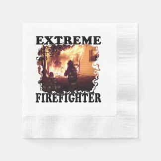 Extreme Firefighter Paper Napkins