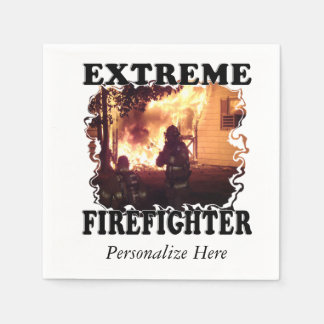 Extreme Firefighter Paper Napkin