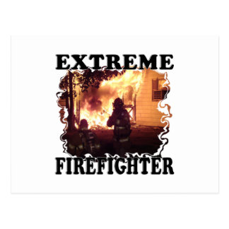 Extreme Firefighter Postcard