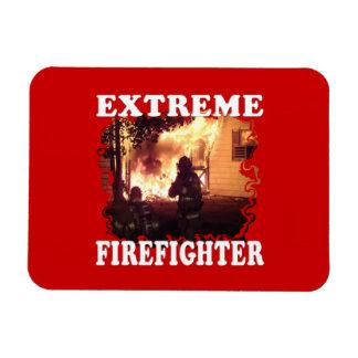 Extreme Firefighter Rectangular Photo Magnet