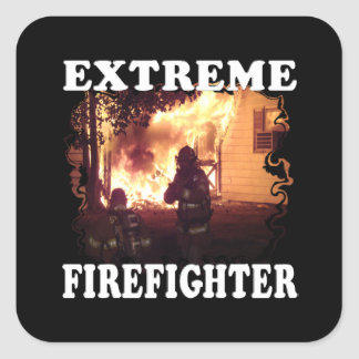 Extreme Firefighter Square Sticker