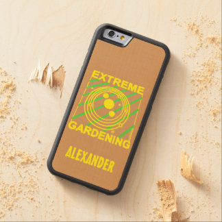 Extreme Gardening Crop Circle Humor UFO Art Carved® Maple iPhone 6 Bumper
