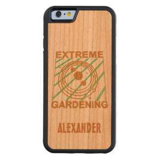Extreme Gardening Crop Circle Humor UFO Art Carved® Walnut iPhone 6 Bumper