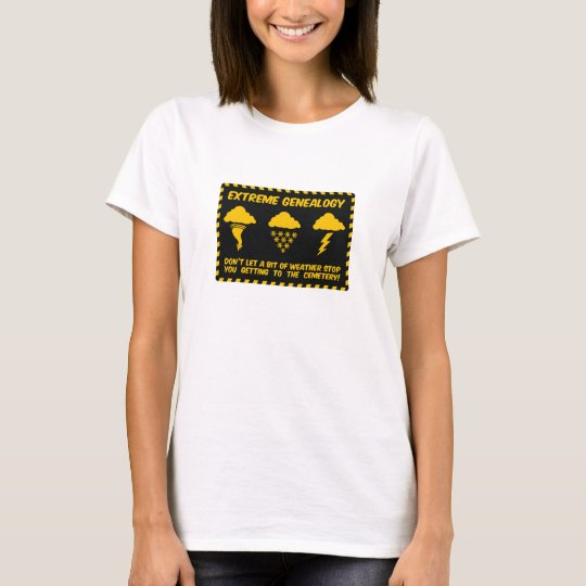 Extreme Genealogy Cemetery T-Shirt