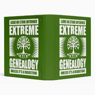 Extreme Genealogy - No Stone Unturned 3 Ring Binders