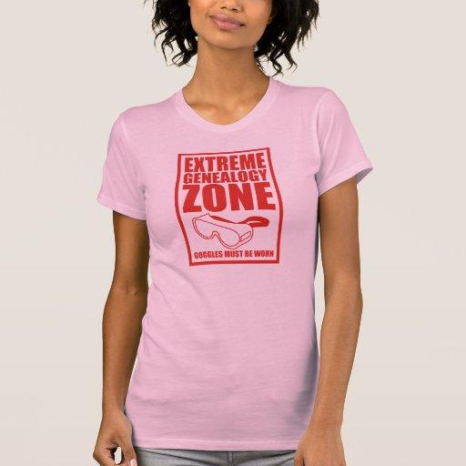 Extreme Genealogy Zone Tshirts