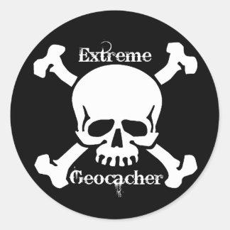 Extreme Geocacher Classic Round Sticker