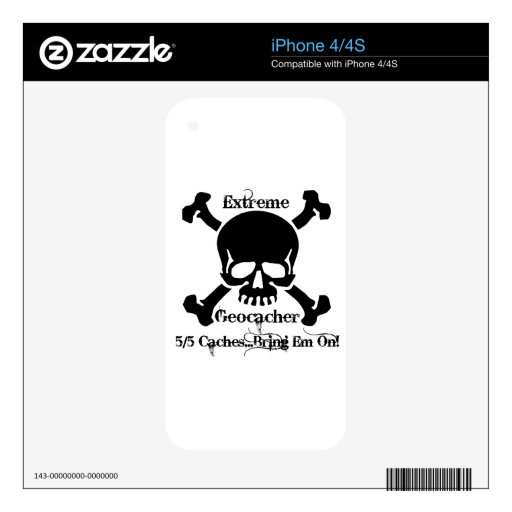 Extreme Geocacher Decal For The iPhone 4