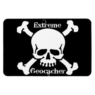 Extreme Geocacher Magnet with skull