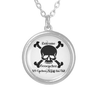 Extreme Geocacher Silver Plated Necklace