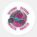 Extreme Girls Round Stickers