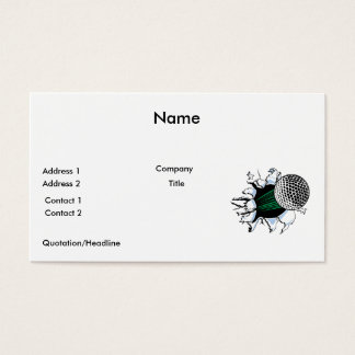 extreme golf golfball ripping through business card