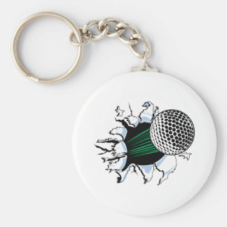 extreme golf golfball ripping through keychains