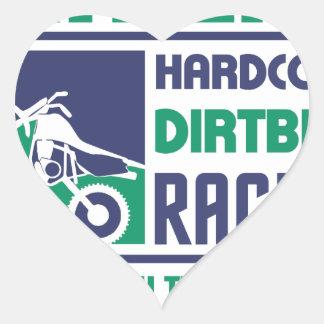 Extreme Hardcore Dirtbike Racing Heart Sticker