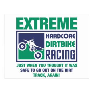 Extreme Hardcore Dirtbike Racing Postcard