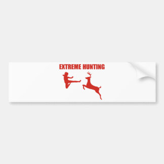 Extreme Hunting Bumper Sticker