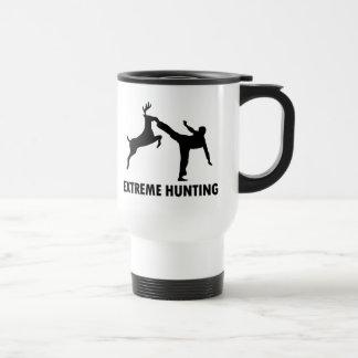Extreme Hunting Deer Karate Kick 15 Oz Stainless Steel Travel Mug