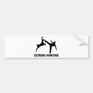 Extreme Hunting Deer Karate Kick Bumper Sticker