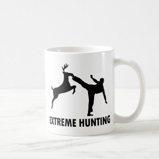 Extreme Hunting Deer Karate Kick Classic White Coffee Mug