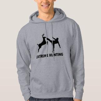 Extreme Hunting Deer Karate Kick Hoodie