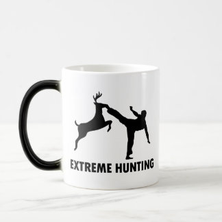 Extreme Hunting Deer Karate Kick Magic Mug