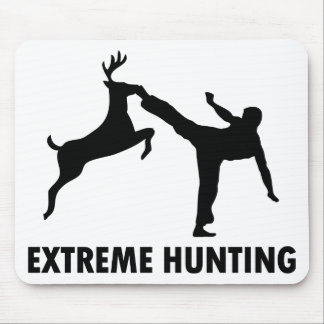 Extreme Hunting Deer Karate Kick Mouse Pad