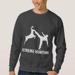 Extreme Hunting Deer Karate Kick Pullover Sweatshirt