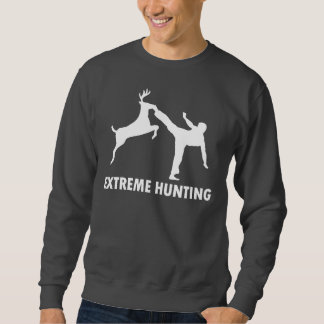 Extreme Hunting Deer Karate Kick Sweatshirt
