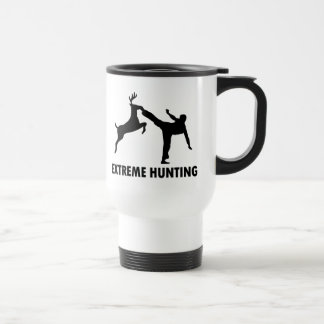 Extreme Hunting Deer Karate Kick Travel Mug