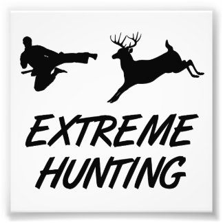 Extreme Hunting Karate Kick Deer Photo Print
