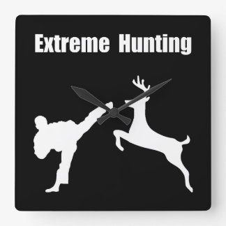 Extreme Hunting Square Wall Clock