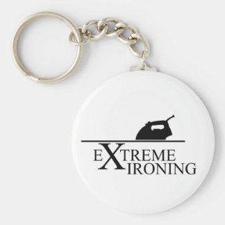 Extreme Ironing by Adam Peel Basic Round Button Keychain