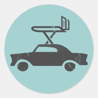Extreme Ironing Car Sticker 3
