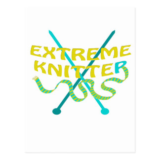 extreme knitter postcard