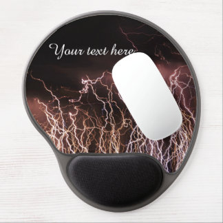 Extreme lightning bolts gel mouse pad