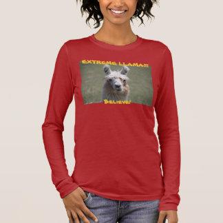 EXTREME LLAMA!!! Believe! Long Sleeve T-Shirt