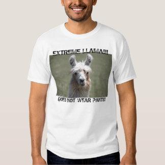 Extreme Llama Does Not Wear Pants T-Shirt