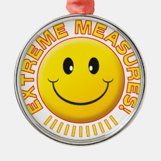 Extreme Measures Smiley Ornament
