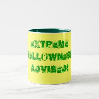 Extreme Mellowness Advised! Two-Tone Coffee Mug