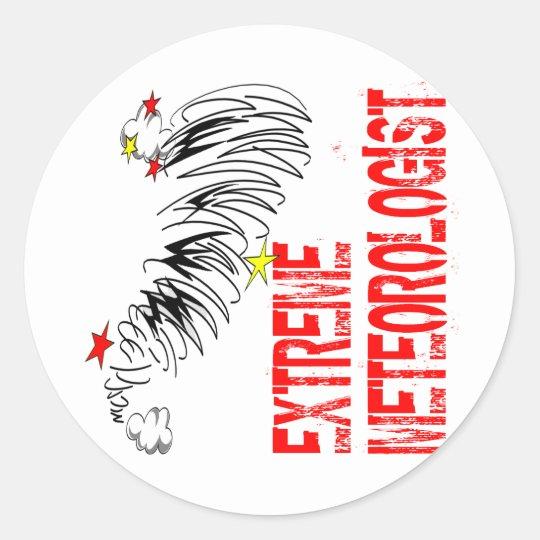 Extreme Meterologist Classic Round Sticker