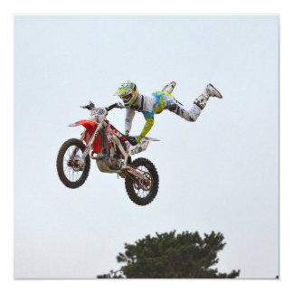 Extreme Motocross Custom Invitations