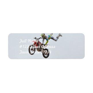 Extreme Motocross Custom Return Address Label