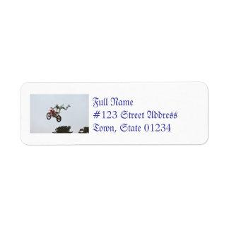 Extreme Motocross Return Address Label