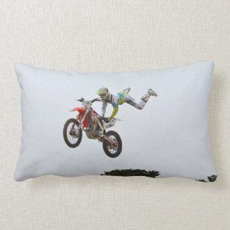 Extreme Motocross Throw Pillow