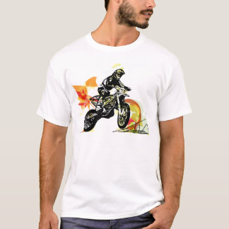 Extreme motocross racer by motorcycle T-Shirt