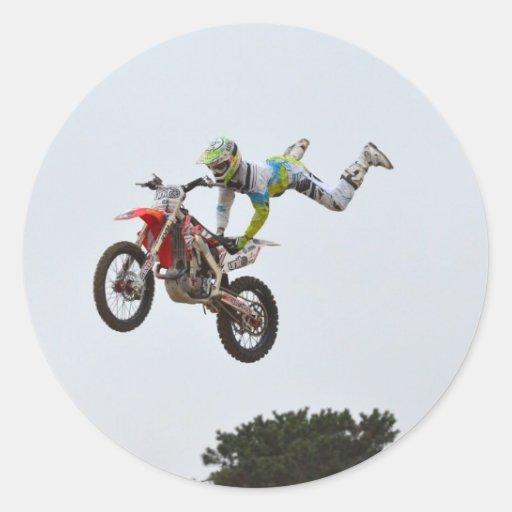 Extreme Motocross Round Stickers