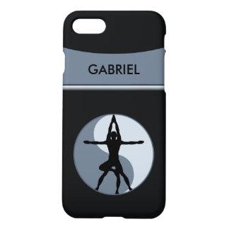 Extreme Or Power Yoga Balance Symbol Gray Zazzle iPhone 8/7 Case